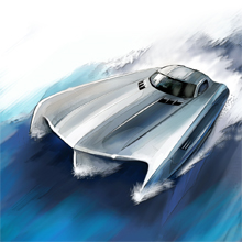 Mercedes-Benz SLS AMG boat for Top Gear