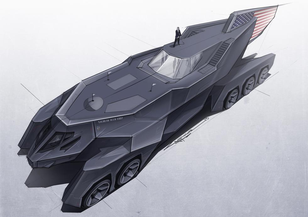 Автомобиль американского президента для Top Gear