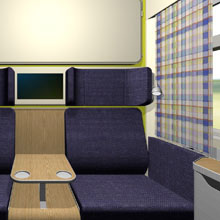 Superior train compartment for Sloplast