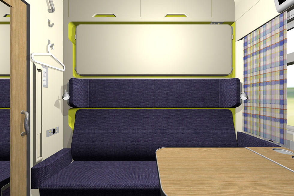 4-seats train compartment for Sloplast