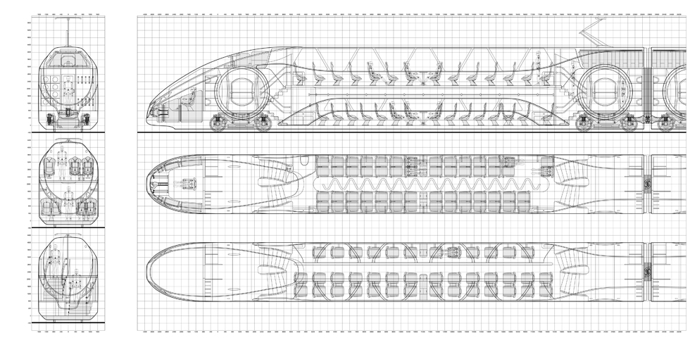Архитектура вагонов поезда