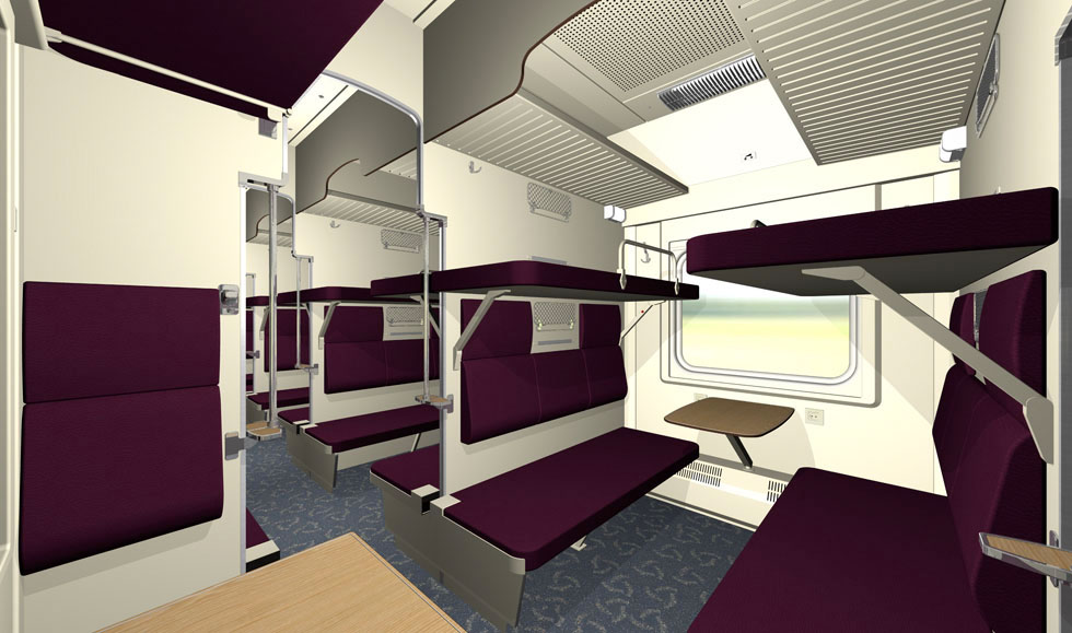 Economy class night train car for TCS