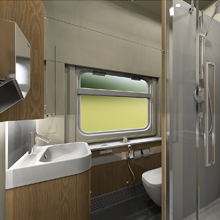 Shower train compartment for TCS