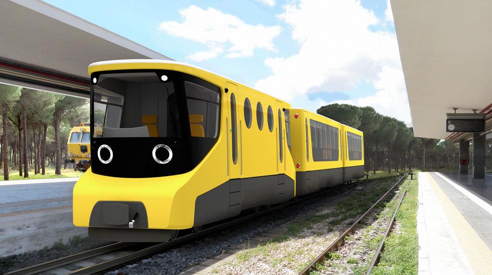 Поезд для узкоколейной железной дороги