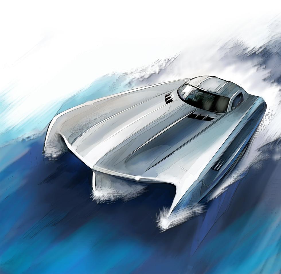 Mercedes-Benz SLS AMG boat for Top Gear
