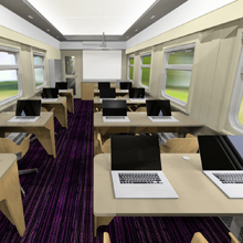 Russian Railways' educational class train car