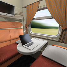 2-seater train compartment restyling for TCS